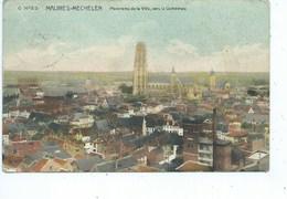 Mechelen Malines Panorama De La Ville Vers La Cathédrale - Malines