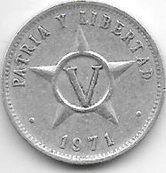 *cuba 5 Centavos 1971  Km 34 Xf+ - Cuba