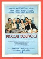 CINEMA-CARTOLINA MANIFESTO FILM-PICCOLI EQUIVOCI-SERGIO CASTELLITTO-LINA SASTRI-NANCY BRILLI - Manifesti Su Carta