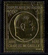 Rep. Niger **  PA N° 148 Sur Feuille D'or - Général De Gaulle - Niger (1960-...)