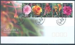 AUSTRALIA  - FDC - 25.3.2003 - BLOOMS FLOWERS - Yv 2104-2108 - Lot 18601 - Premiers Jours (FDC)