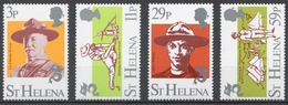 St.Helena 1982 Mi# 367-70** SCOUTING YEAR - Sainte-Hélène