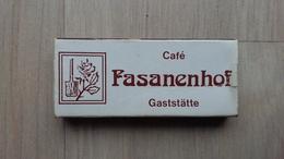 Zündholzschachtel Mit Werbung Für Eine Gaststätte In Göttingen (Deutschland) - Zündholzschachteln