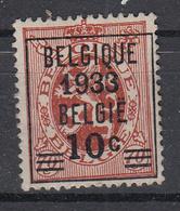 BELGIË - PREO - 1933 - Nr 287 - BELGIQUE 1933 BELGIË - (*) - Préoblitérés