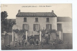 Cpa - Dpt  - Gard  -  Chusclan    Villa Des Rosiers    Animation        (  Selection  )   Rare  1909 - France