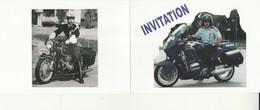 E 1 - Encart Invitation  Gendarmerie Colmar  - Moto - Police & Gendarmerie