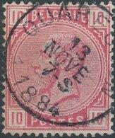 [46743]N° 38, TB Obl Centrale 'Quaregnon' - 1883 Léopold II
