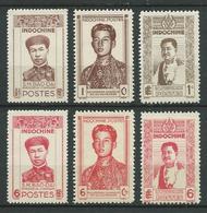 INDOCHINE 1943/44 . Série N°s 236 à 241 . Neufs (*) Sans Gomme . - Indochine (1889-1945)