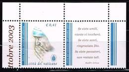 Vatikan 2003, Michel# 1467 Zf ** Beatification Of Mother Teresa - Vatican