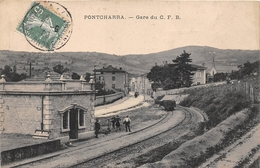 ¤¤  -  PONTCHARRA    -  La Gare Du C.F.B.   -  Chemin De Fer   -  ¤¤ - Pontcharra