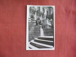 RPPC Couple Outside Castle      Ref 3097 - Postcards