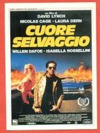 CINEMA-CARTOLINA MANIFESTO FILM- CUORE SELVAGGIO-NICOLAS CAGE-LAURA DERN-DIANE LADD-WILLEM DAFOE - Manifesti Su Carta