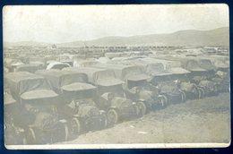 Cpa Carte Photo Important Rassemblement De Camions Guerre 14-18   YN17 - Guerre 1914-18