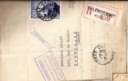59 - NORD - VALENCIENNES  - 1948 - TàD DE TYPE A6 - Poststempel (Briefe)