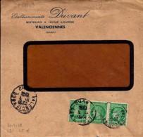 """59 - NORD - VALENCIENNES  - 1948 - TàD DE TYPE A6 + ENTETE """"ETS DUVANT/MOTEUR A HUILE LOURDE"""" - Poststempel (Briefe)"""