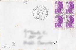 59 - NORD - 59.VALENCIENNES A  - 1988 - TàD DE TYPE A9 - Poststempel (Briefe)