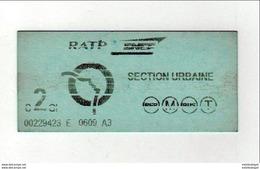 Ticket   RATP - Métro