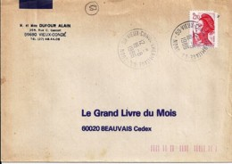 59 - NORD - 59.VIEUX CONDE L'HERMITAGE GA  - 1986 - TàD DE TYPE A9 - Poststempel (Briefe)