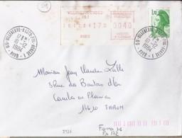 59 - NORD - 59.VILLENEUVE D'ASCQ Ppal ANNEXE 1  - 1984 - TàD DE TYPE A9 - Poststempel (Briefe)
