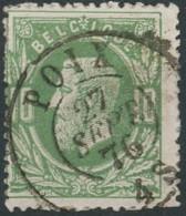 [49336]N° 30, Obl Obl Concours DC 'Poix', Nipa +10? - 1869-1883 Léopold II