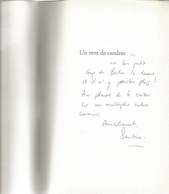 Dédicace De Sandrine Collette - Un Vent De Cendres - Livres, BD, Revues