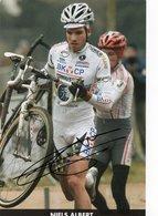 CYCLISME TOUR  DE  FRANCE  Autographe NIELS  ALBERT - Cycling