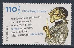 """Deutschland Germany 2001 Mi 2209 SG 3068 ** """"Lebenslanges Lernen"""", Lehrer Lämpel - W. Busch Writer, Illustrator/ Dichter - Schrijvers"""