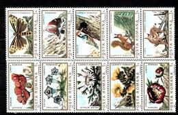 Serie De Rumanía Nº Yvert 3465/74 **  FLORES (FLOWERS) - 1948-.... Repúblicas