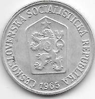 Czechoslovakia 10 Haleru 1965 - Tchécoslovaquie