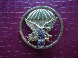 EPIGN . Gendarmerie . Insigne De Beret  ( Flamme Argentée ) - Polizia