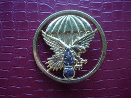 EPIGN . Gendarmerie . Insigne De Beret  ( Flamme Argentée ) - Politie En Rijkswacht