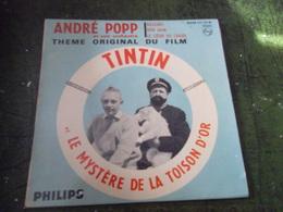 VINYLE 45 T TINTIN ET LE MYSTERE DE LA TOISON D'OR THEME ORIGINAL DU FILM - Kinderlieder