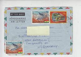GHANA  1975 -  Intero Postale  - Yvert 282  - Pesci - Ghana (1957-...)