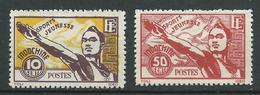 INDOCHINE 1944 . N°s 284 Et 285 . Neufs (*) Sans Gomme . - Indochine (1889-1945)