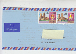 UGANDA 1979 - Yvert  173 (cattedrale) - Lettera Per Germania - Uganda (1962-...)