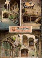 Spain & Circulated, Greetings From Barcelona, Patios De La Calle Montcada, Estoril Portugal (B22) - Souvenir De...