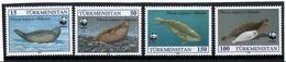 Turkmenistan. 1993 WWF-4v (Caspian Seals). 6v. - Turkménistan