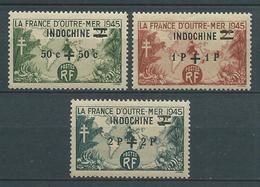 INDOCHINE 1945 . N°s 296 , 297 Et 298 . Neufs ** (MNH) - Indochine (1889-1945)