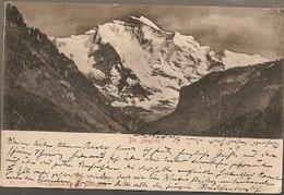 Austria & Circulated, Greetings From  Die Jungfrau, Steffisburg, Langenschwalbac Germany 1901 (7007) - Souvenir De...
