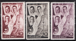 Russia 1938 Unif. 632/34 */MH VF/F - 1923-1991 URSS