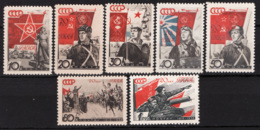 Russia 1938 Unif. 621/27 */MH VF/F - 1923-1991 URSS