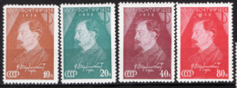 Russia 1937 Unif. 604/07 */MH VF/F - 1923-1991 URSS