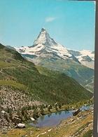Austria & Circulated, Greetings From Wallis, Matterhorn, Zermatt, Mont Cervin, Lisboa 1975 (755) - Souvenir De...