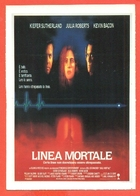CINEMA-CARTOLINA MANIFESTO FILM-LINEA MORTALE-KIEFER SUTHERLAND-JULIA ROBERTS-WILLIAM BALDWIN - Manifesti Su Carta