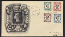 Bahamas Brief FDC Queen Elisabeth Nassau Abb Black Penny + Sachsendreier - Bahamas (1973-...)