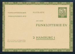 Berlin 1962 10 Pfg. Funklotterie-Ganzsache Dürer Ungelaufen - [5] Berlin