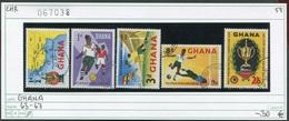 Ghana - Michel 63-67 - Oo Oblit. Used Gebruikt - Fussball - Football - Ghana (1957-...)