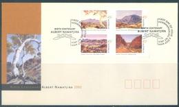 AUSTRALIA  - FDC - 2.7.2002 - ALBERT NAMATJIRA - Yv 2037-2040 - Lot 18606 - Premiers Jours (FDC)