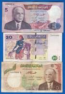 Tunisie  3  Billets - Tunisie