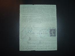 CL EP PNEUMATIQUE SEMEUSE 30c OBL. HOROPLAN BLEUE 2 Du 4 09 PARIS 118 - Poststempel (Briefe)